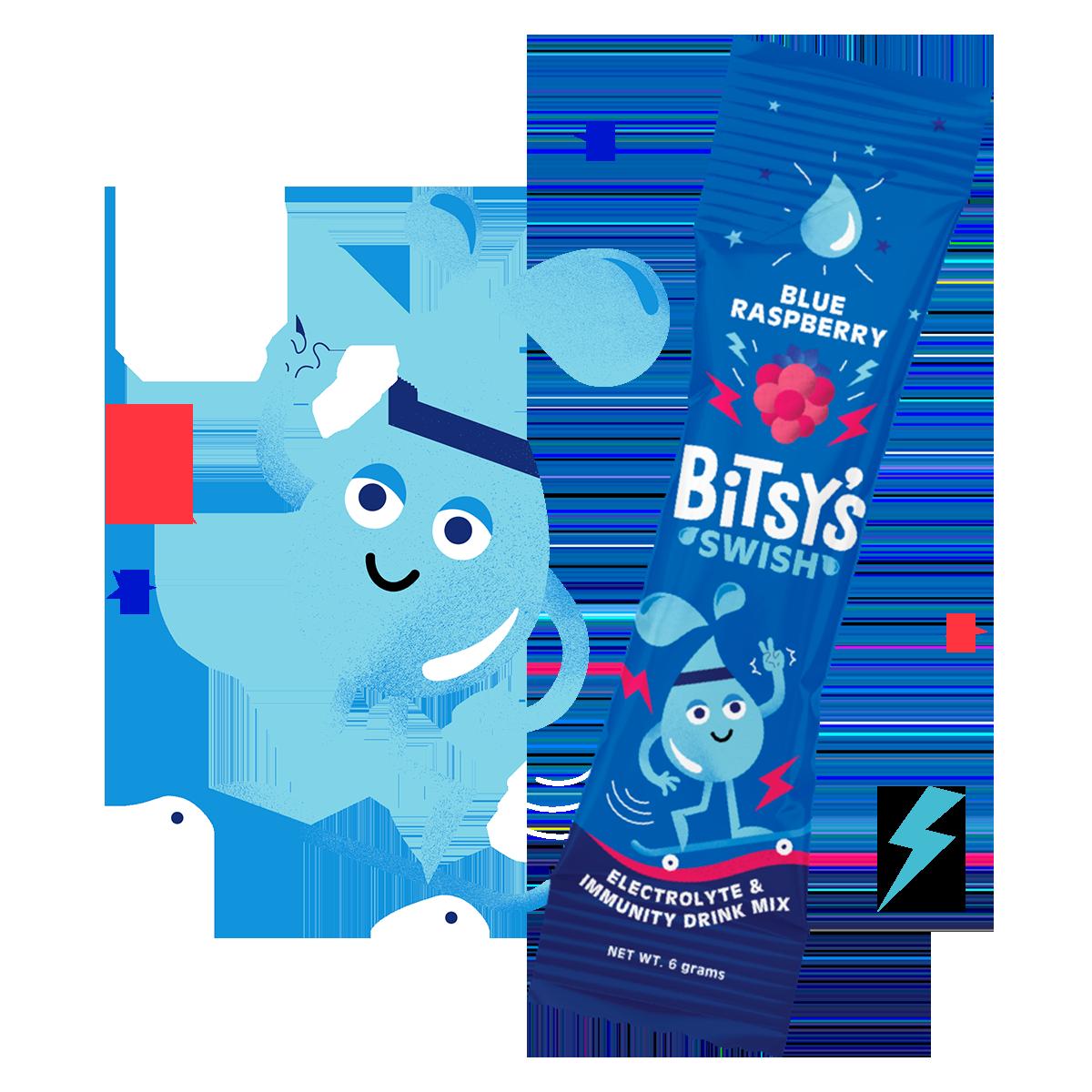 Bitsy's Swish Blue Raspberry