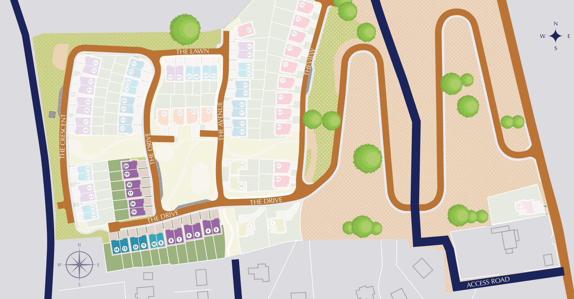 Castlebrook Manor Site Plan