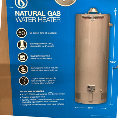 Best Arvada and westminster local company, K&K Home Solutions HVAC near me installation and repair for residential water heater in teh box