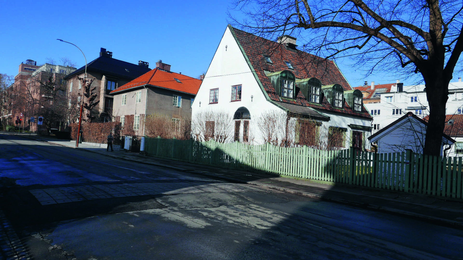 Eneboliger og leiegård på Frogner i Oslo.