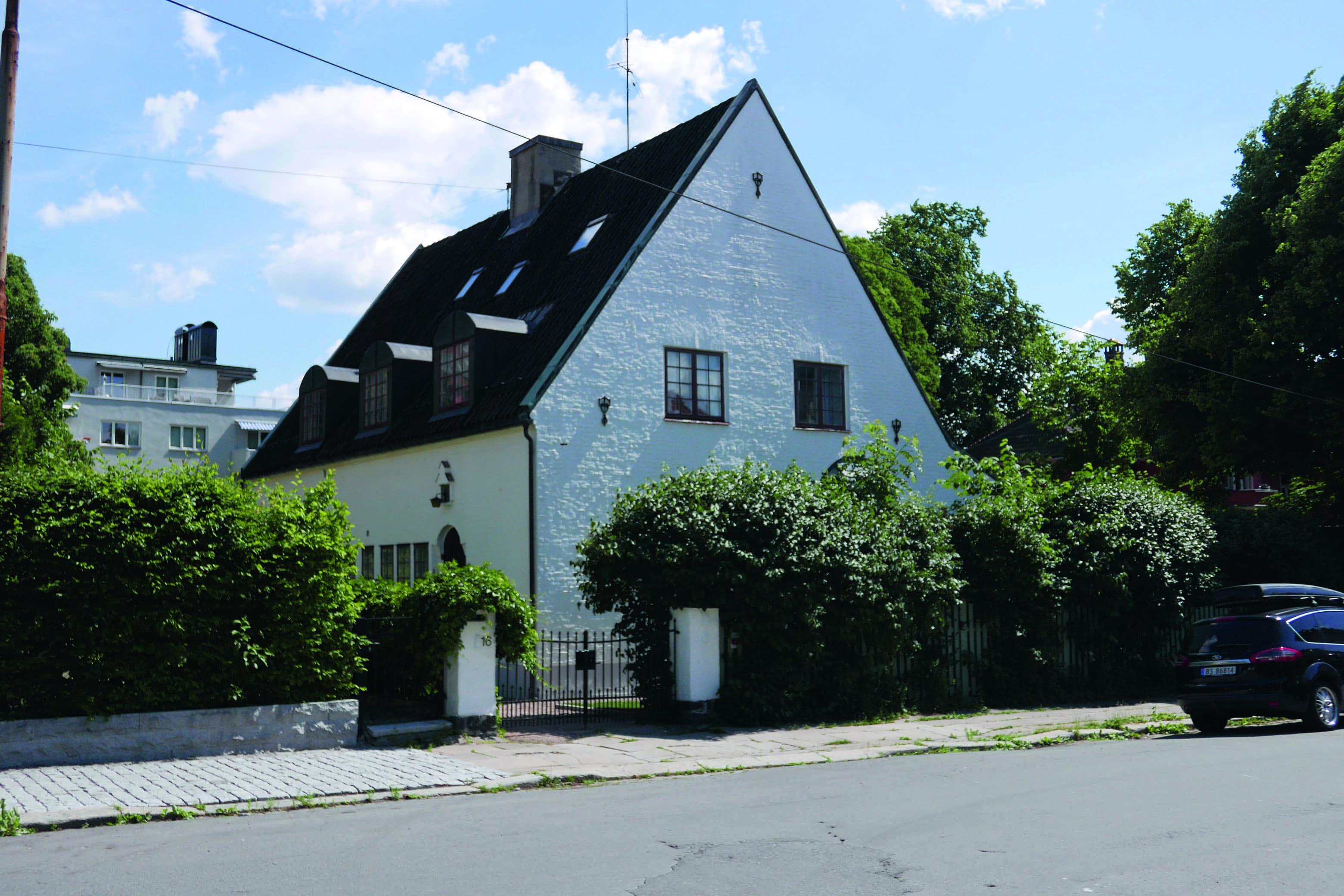 Hafrsfjordsgate 16 i Kristiania for Agnes og Sigurd Scott-Hansen.