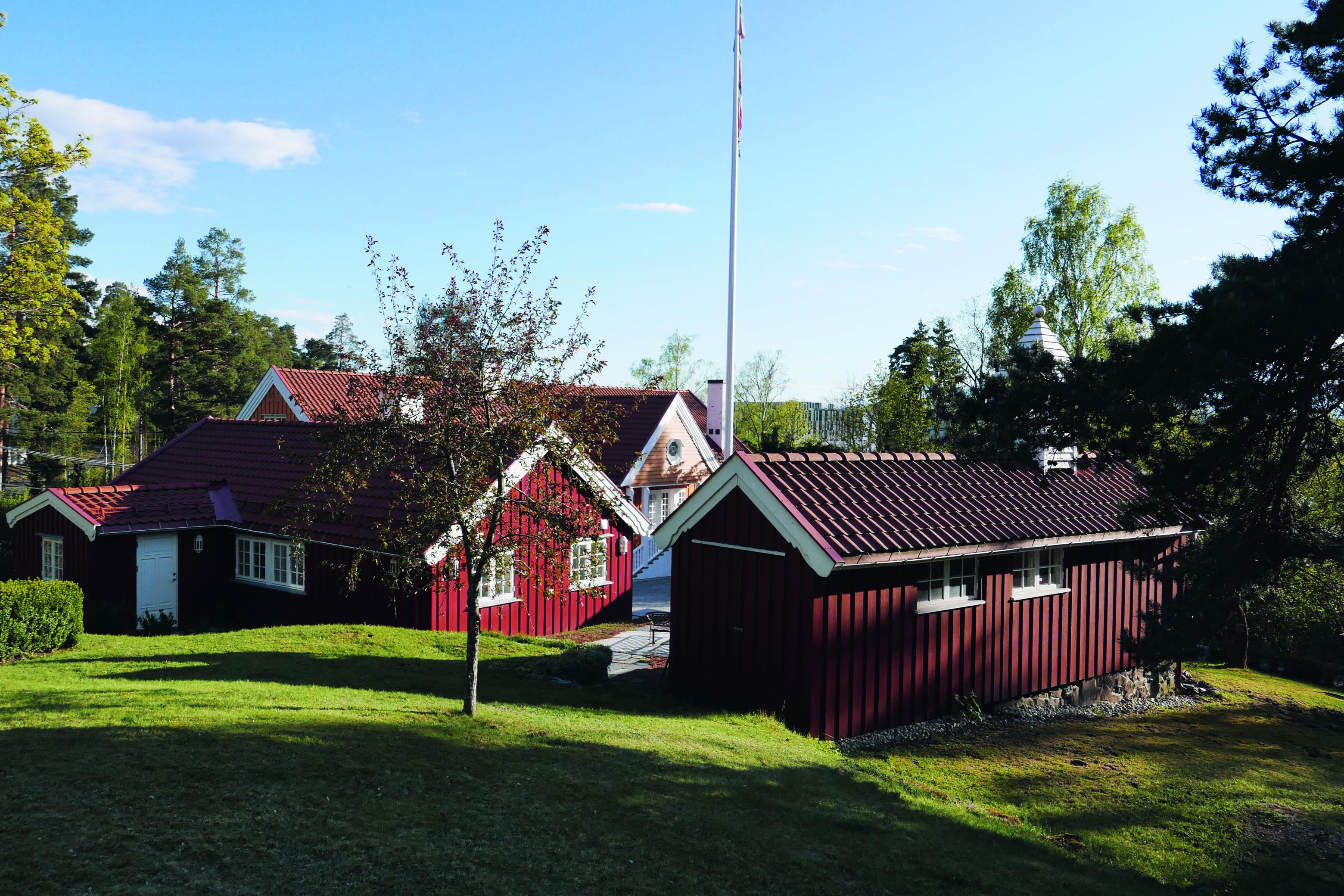 Det gjenoppførte Gullia på Fornebo.