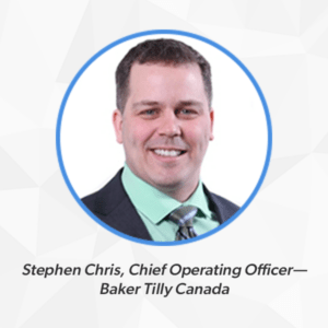 Headshot of Stephen Chris, COO of Baker Tilly Canada