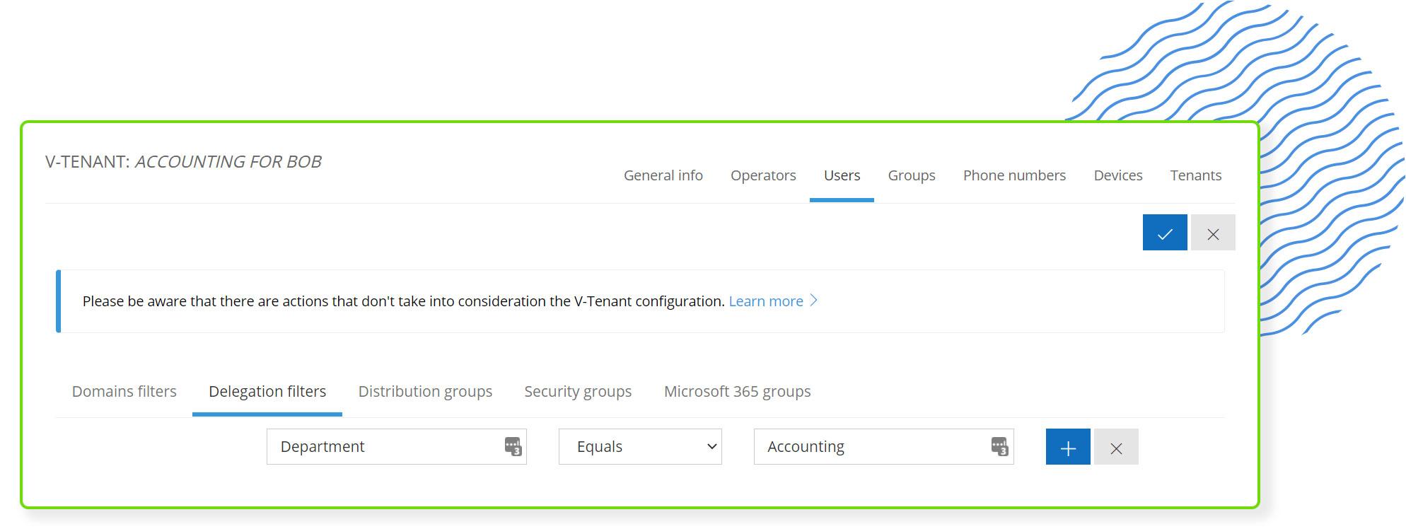 Screenshot of Coreview's Virtual Tenant