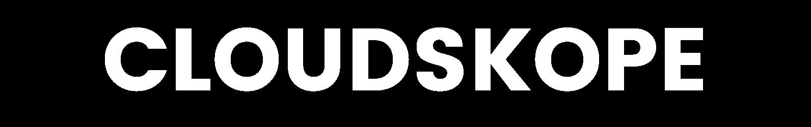 Cloudskope logo white
