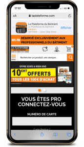 Bannière site web pour télécharger son application mobile