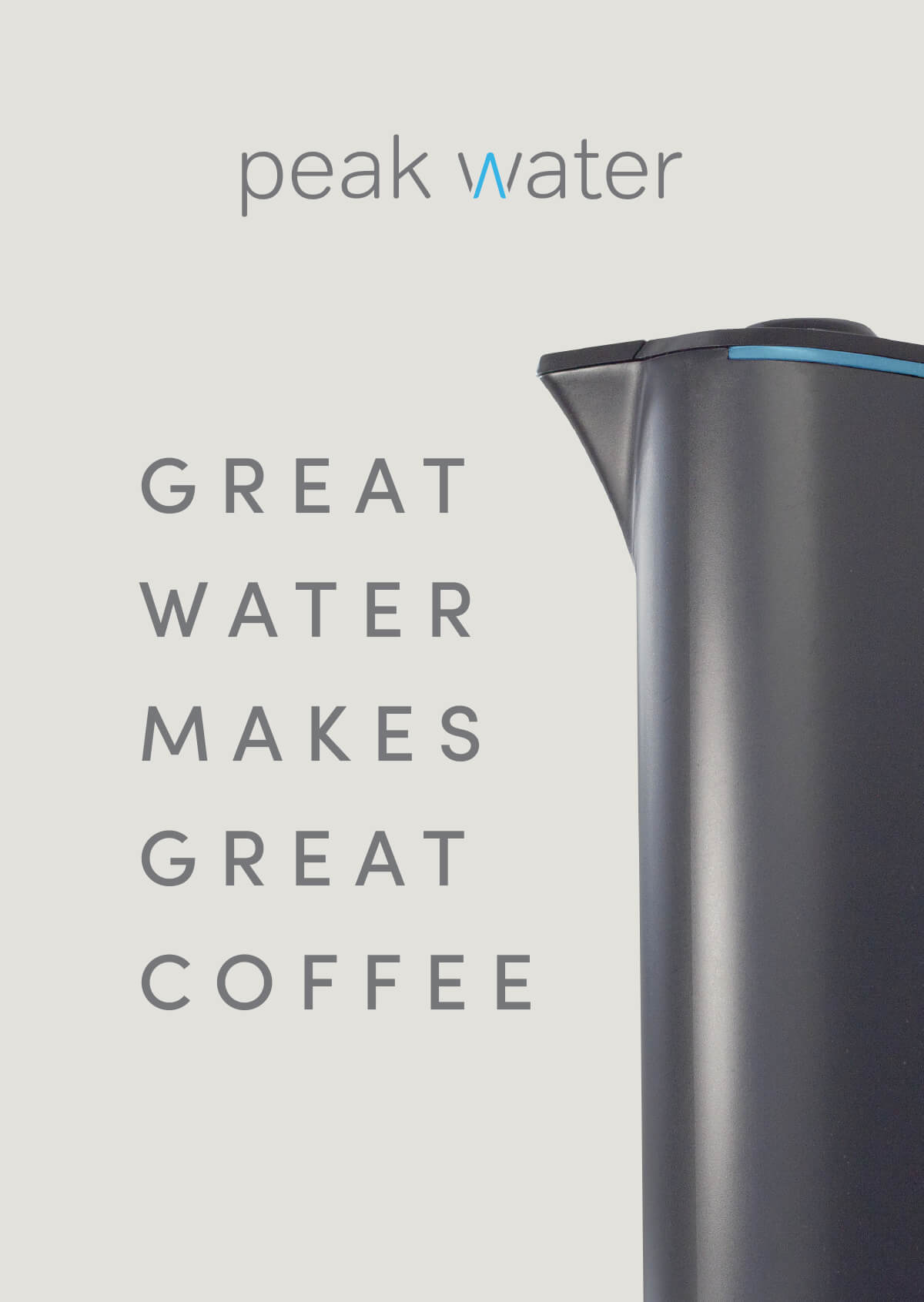 Peak Water postcard with completed tagline