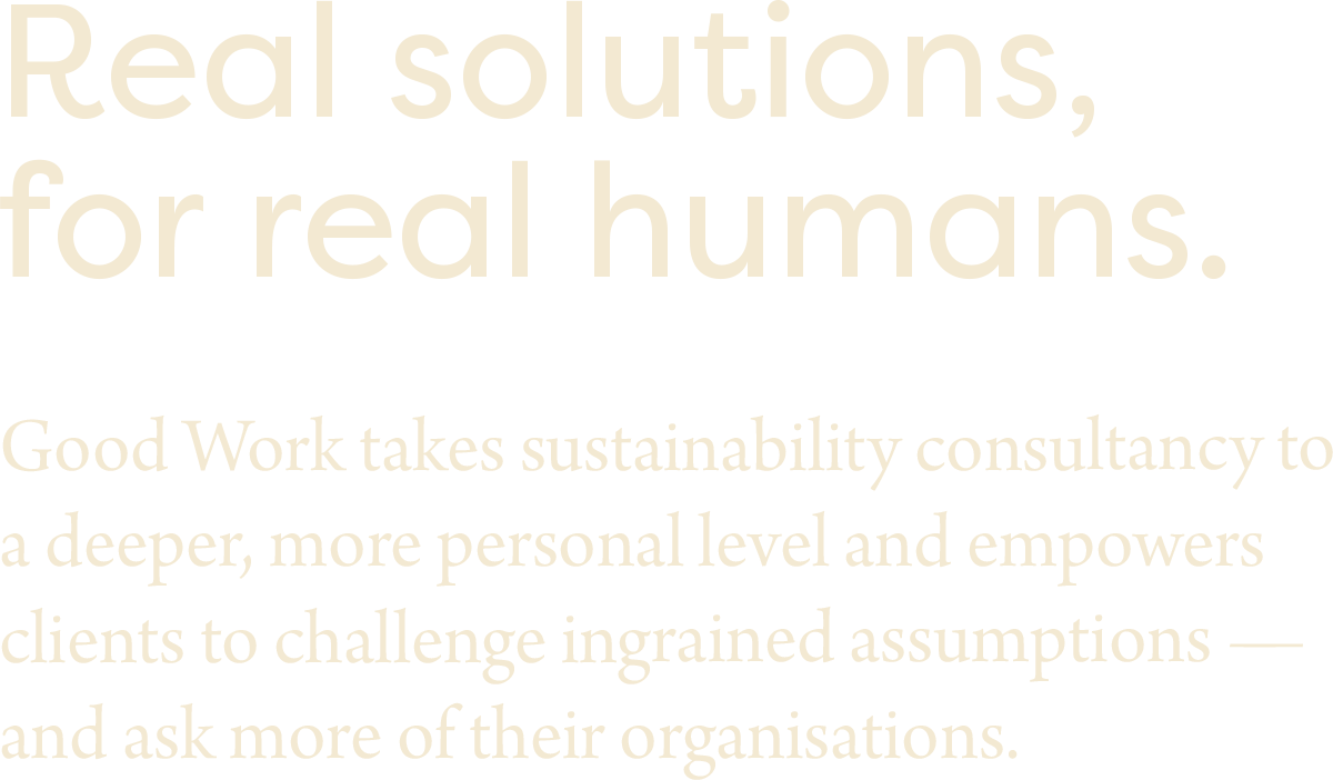 Good Work Typeface Exploration
