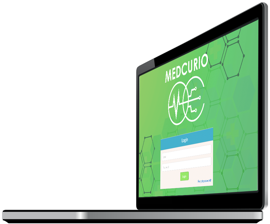 Laptop with Medcurio screen