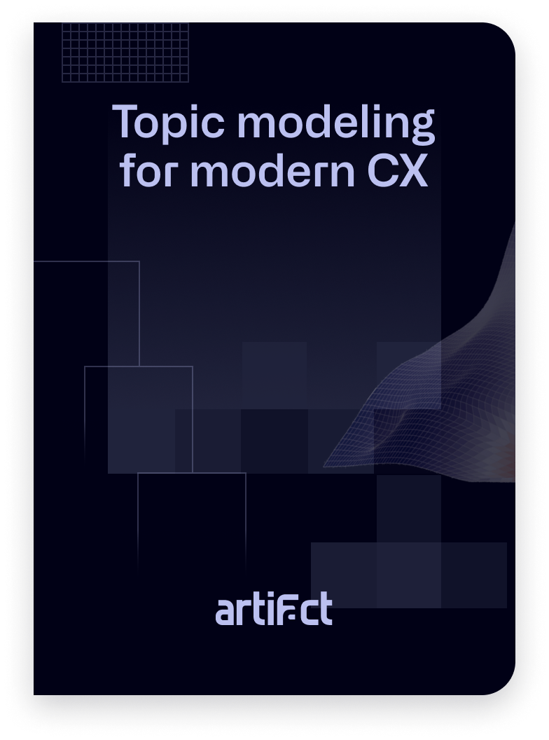 A book cover for the Topic Modeling Buyer Guide