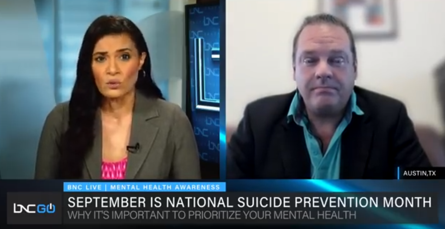 Tripsitter Clinic CEO, Dr. John Huber, featured on BNC News to discuss the suicide crisis amid the pandemic