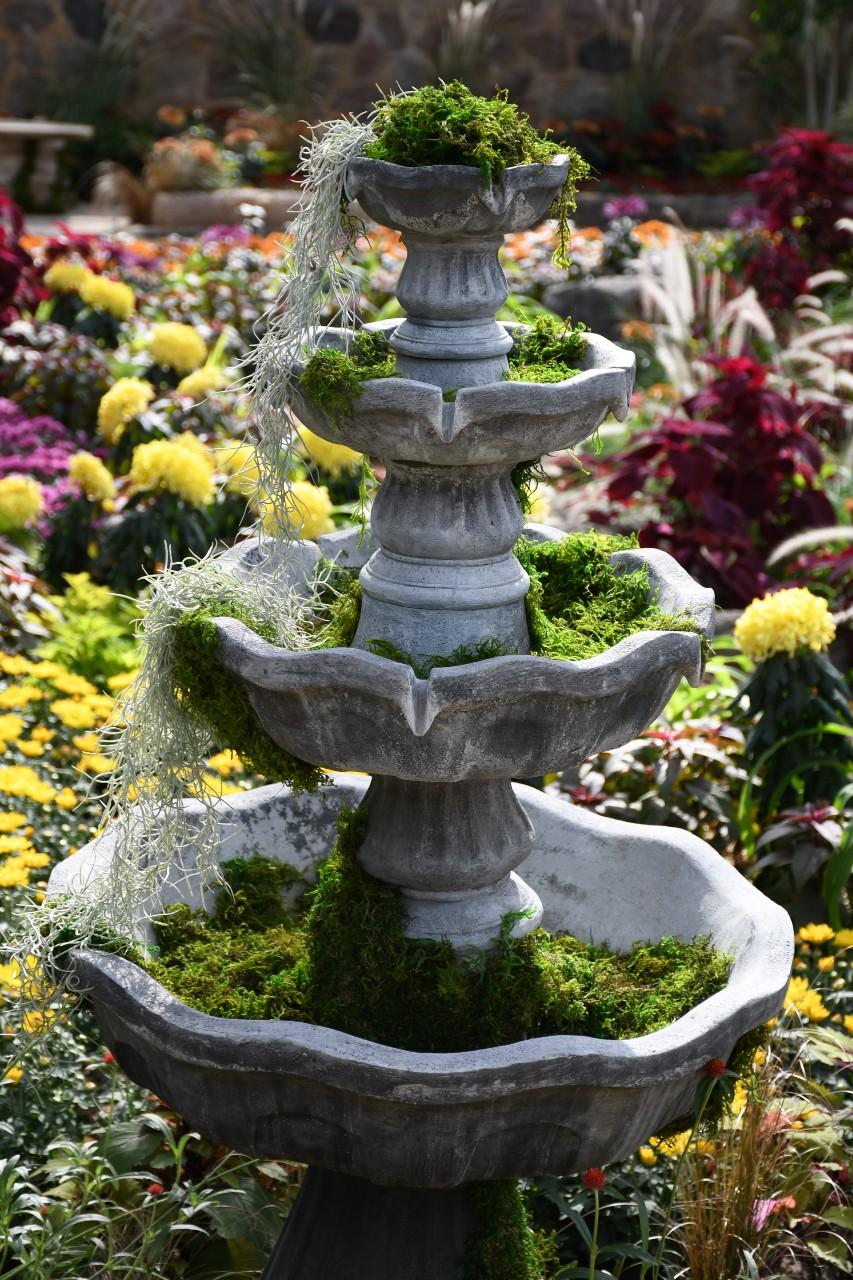 moss fountain