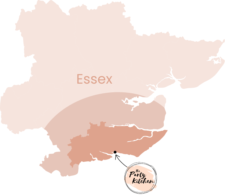 map illustrating delivery areas