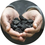 Biochar that is heated and conveted into a material that is highly