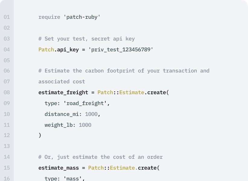 Leverage Patch's API to create integrations with your customers