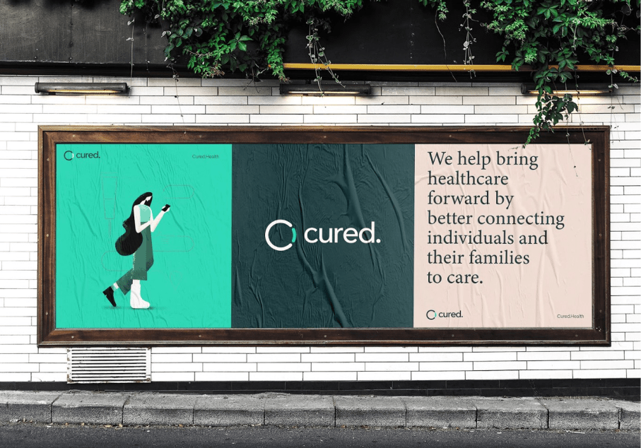 Poster announcing Cured Health news