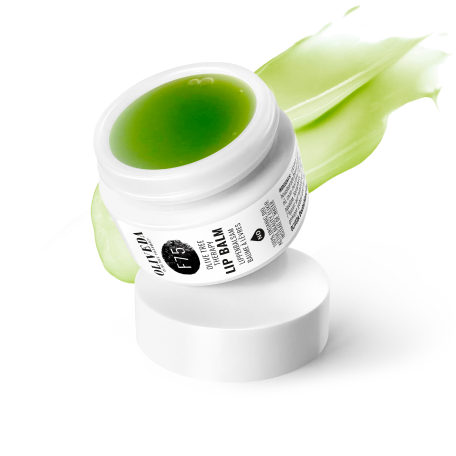 Olive Tree People matcha product in a white container
