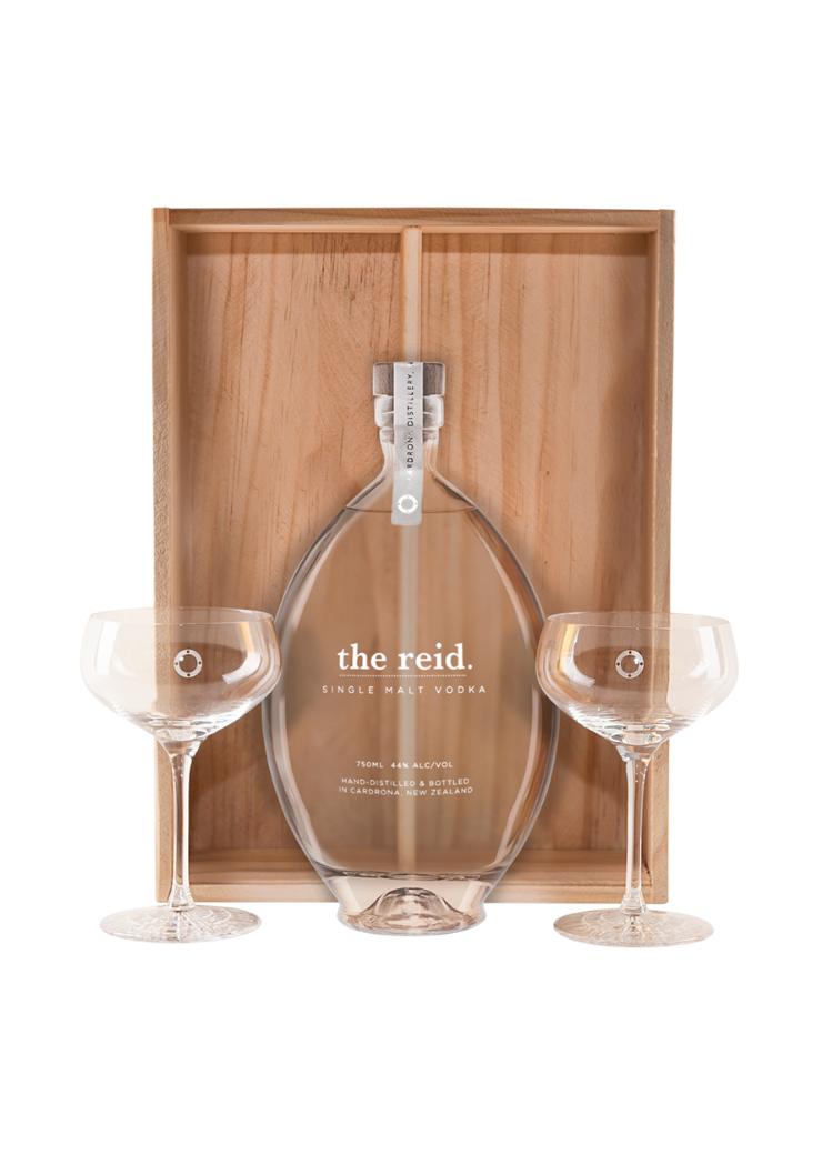 the reid & Martini Glass Set