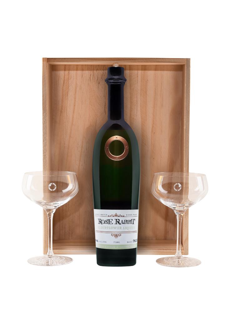 Rose Rabbit Elderflower & Martini Glass Set