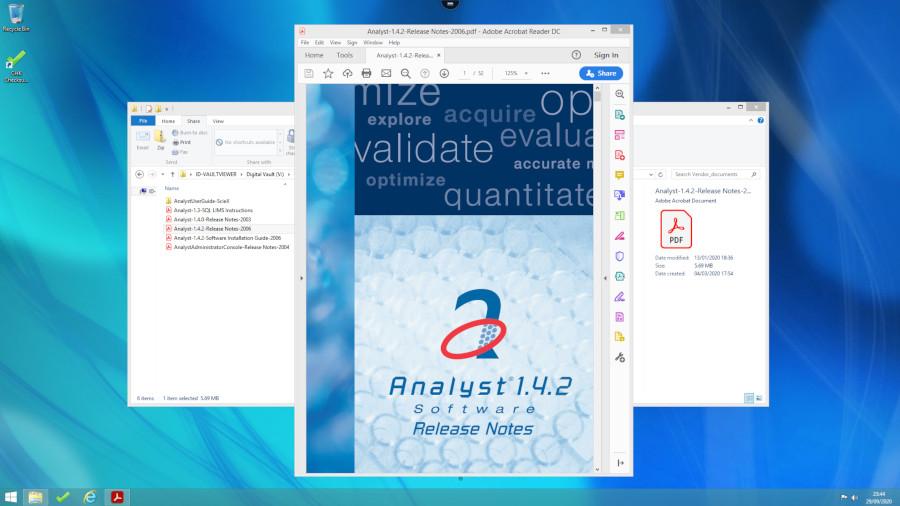 Screenshot of Digital Vault