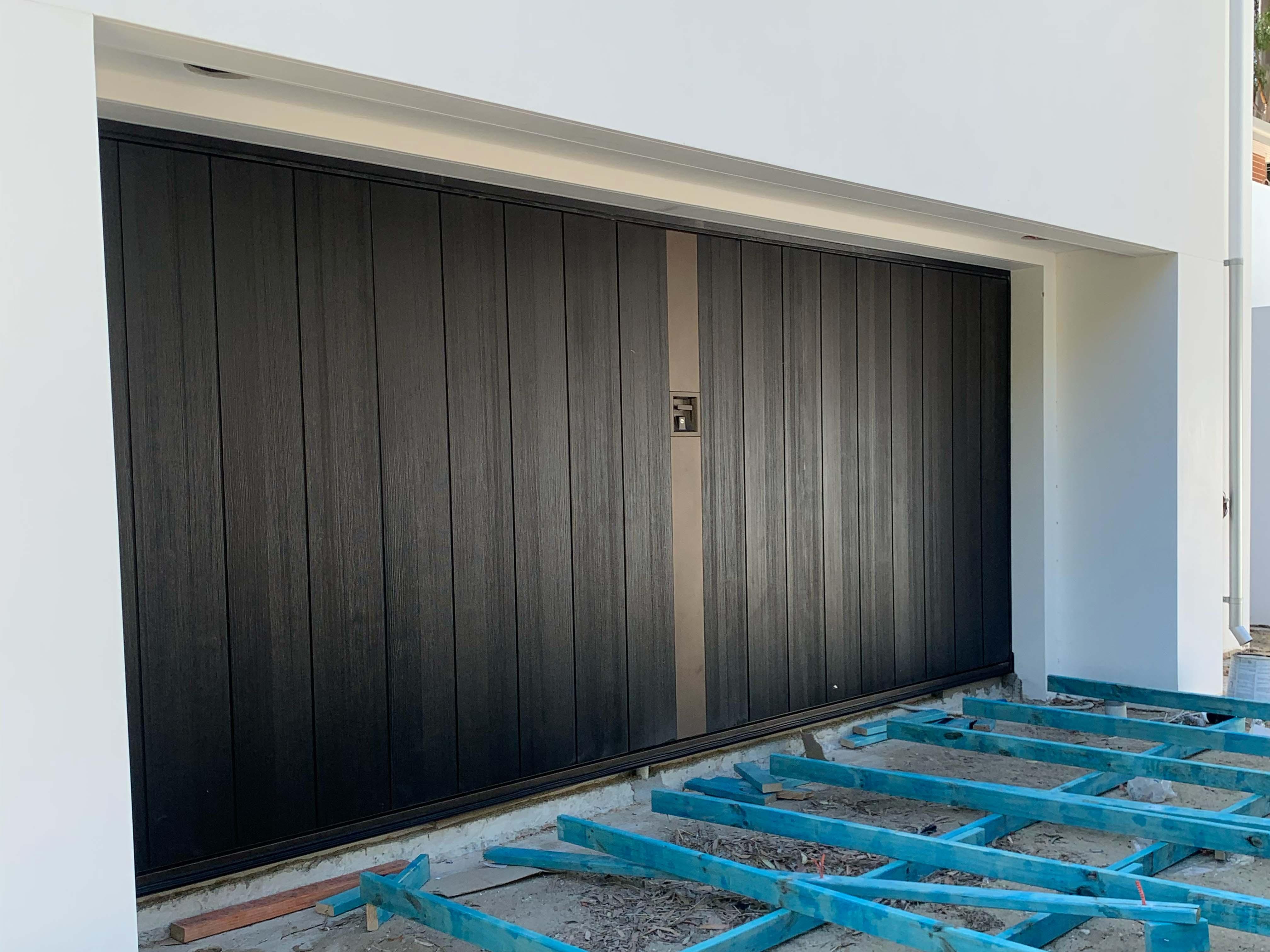 custom garage door build