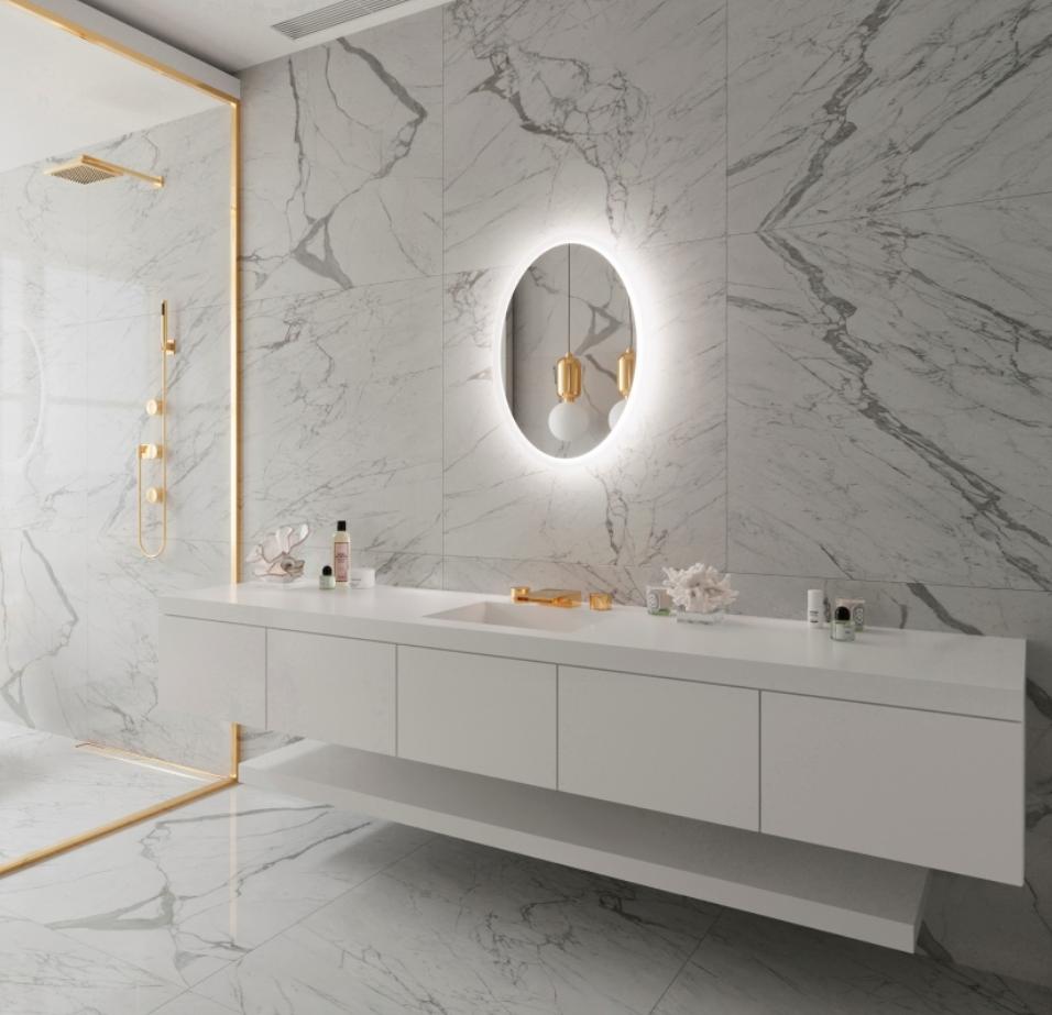 Backlit Mirror & Shaving Cabinets