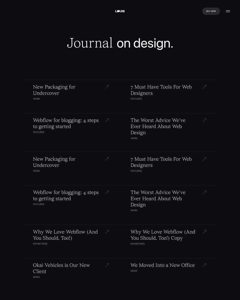 Blog 2 Portfolio Webflow Template