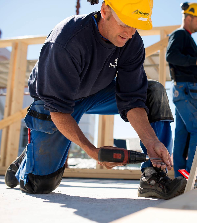 Hersleth tømrer i aksjon