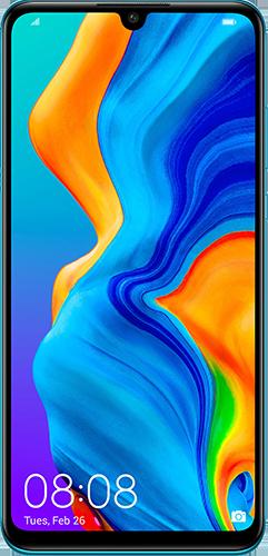 Modrý Huawei mobil