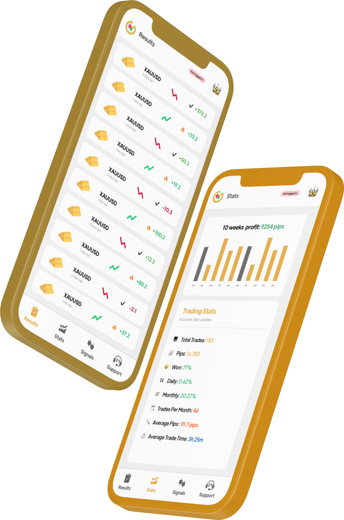 gold trading app preview