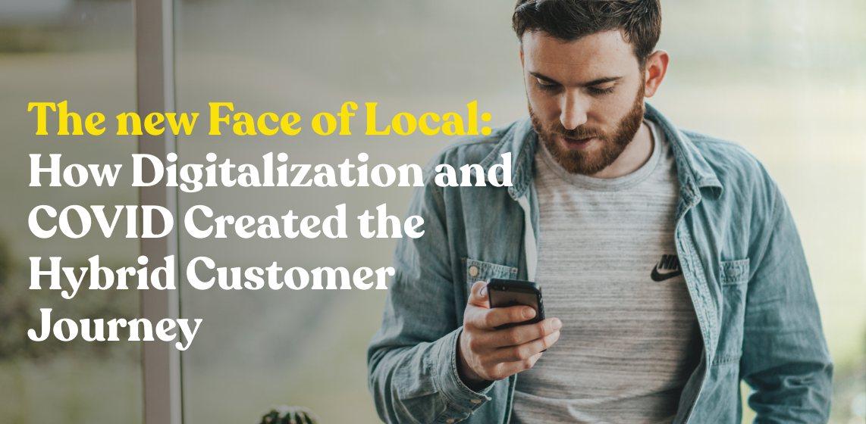 Customer using mobile