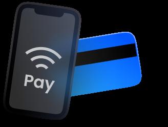 Iphone & bank card