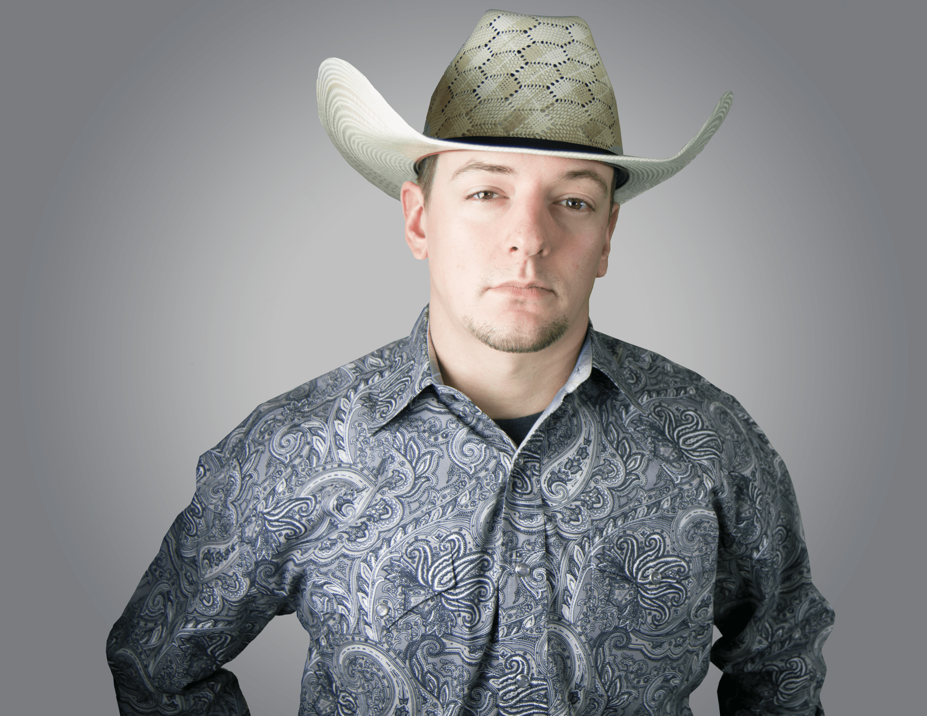 head on image of Brent Alexander with a cowboy hat