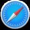 Apple's safari compass icon for mac software.
