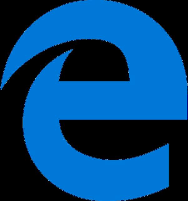 The blue e for internet.