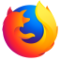 The blue, orange, yellow, and red logo for firefox.