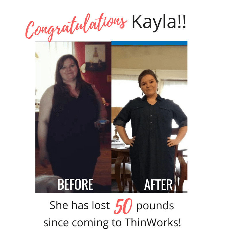 Kayla's amazing weight loss before and after photo.