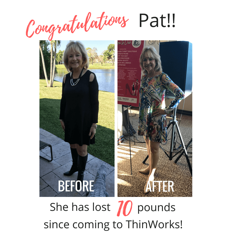 Pat's amazing weight loss before and after photo.