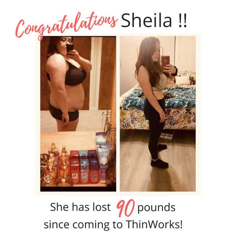 The jaw-dropping before and after of Sheila.