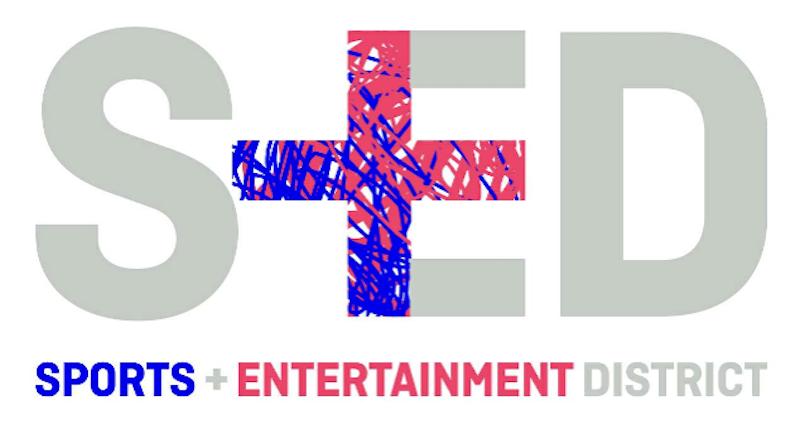 sports entertainment district logo
