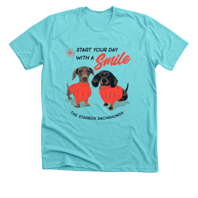 Start your day with a Smile Moonpie Starbox merch, a Tahiti blue Premium Unisex Tee