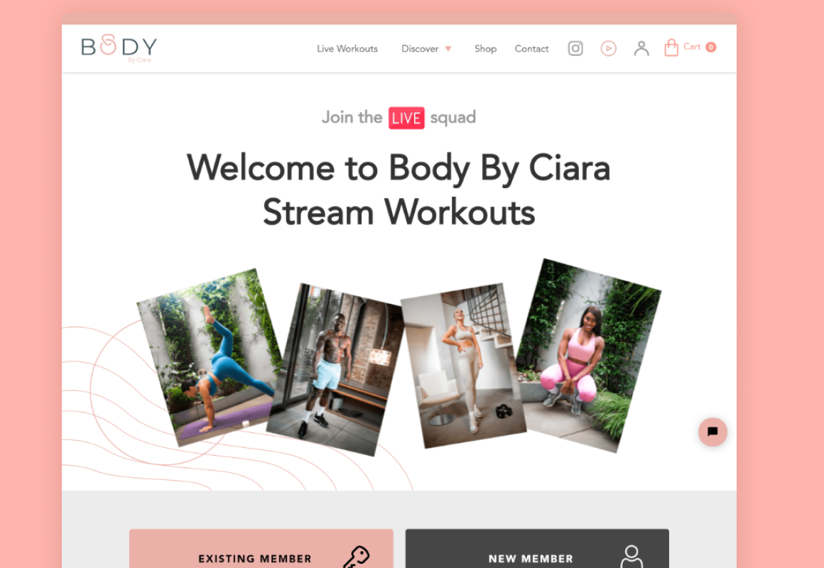 Body by Ciara's fitness subscription platform