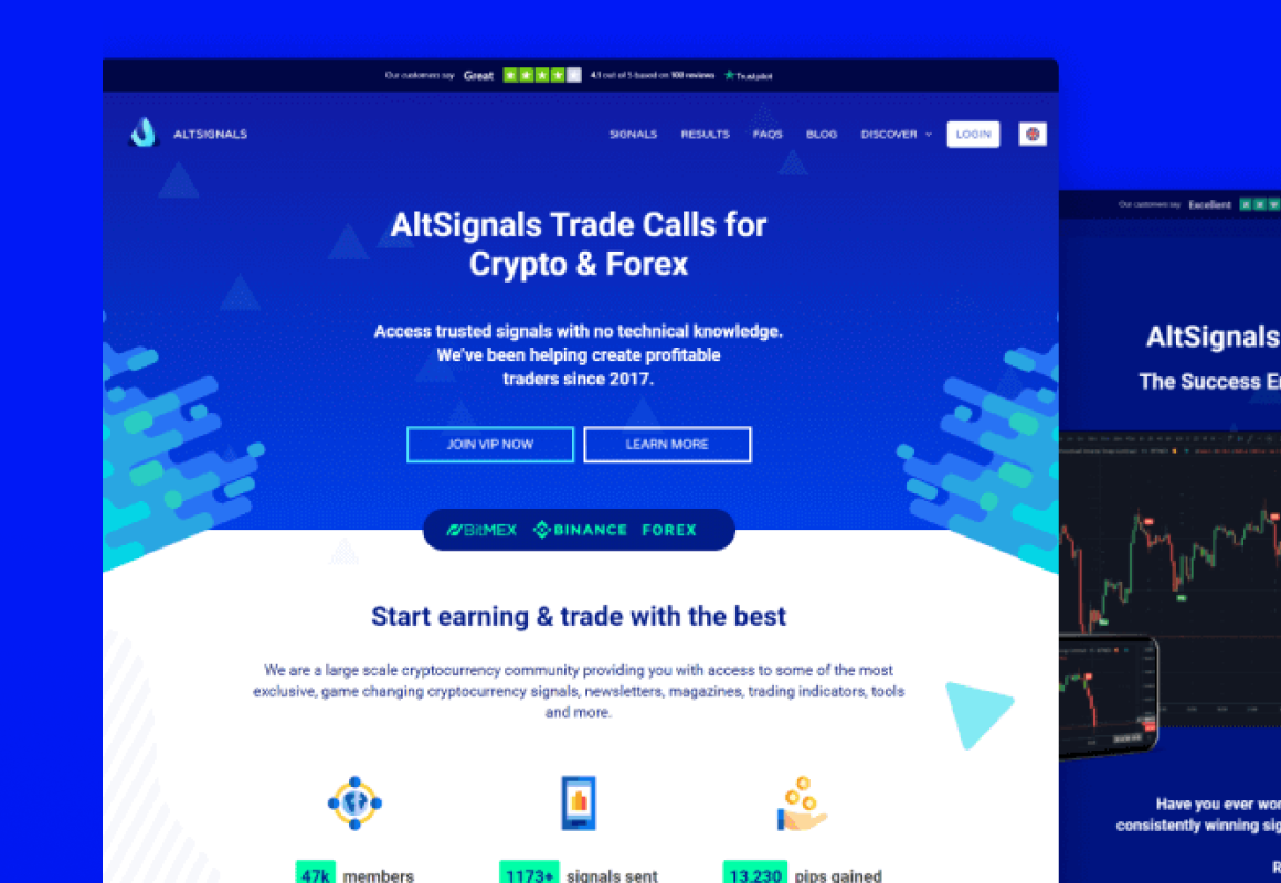 Automated e-commerce web app for crypto and forex signals.