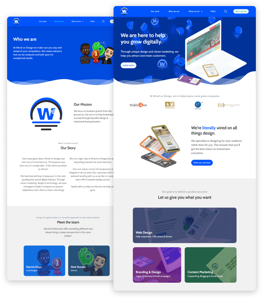 Web design & digital marketing agency.
