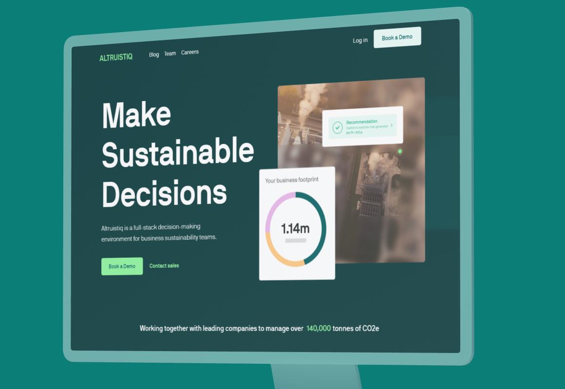 An environmental tech company reducing Co2 worldwide