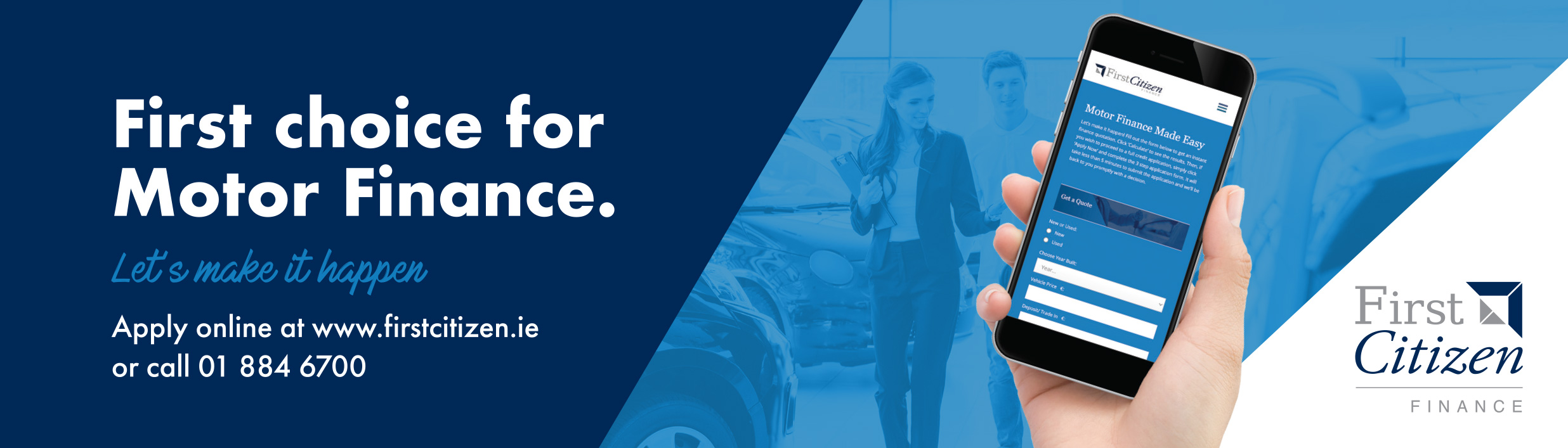 First Citizen Finance finance partners for Brand New Drive