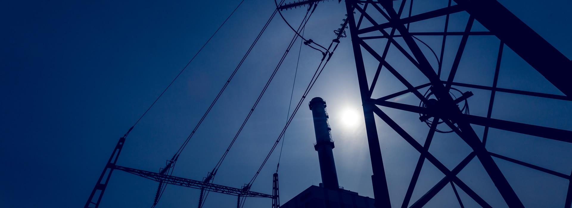 Bild på kraftledningar