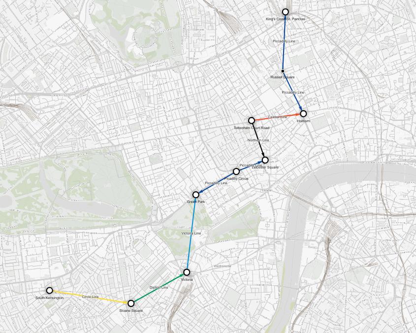 Data visualization - shortest route - museums