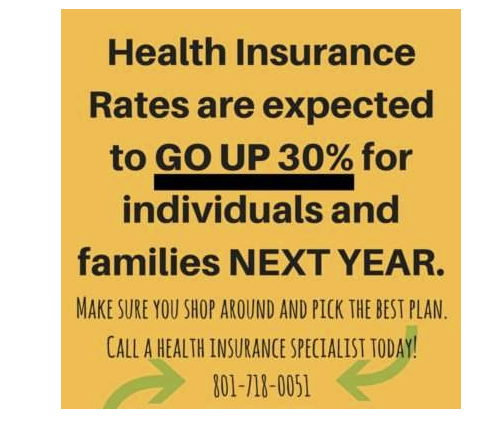 Most of us have seen this coming for years. It's unfortunate but true, health insurance premiums are increasing on average in the state of Utah by 30%