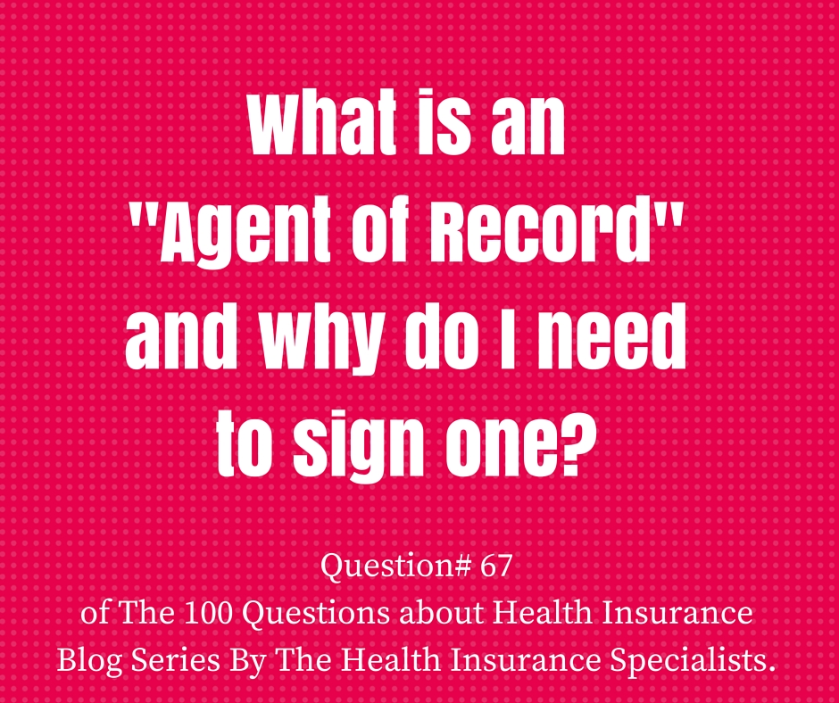 """Question #66 What is an Agent of Record """"AOR"""" and why do I need to sign one?"""